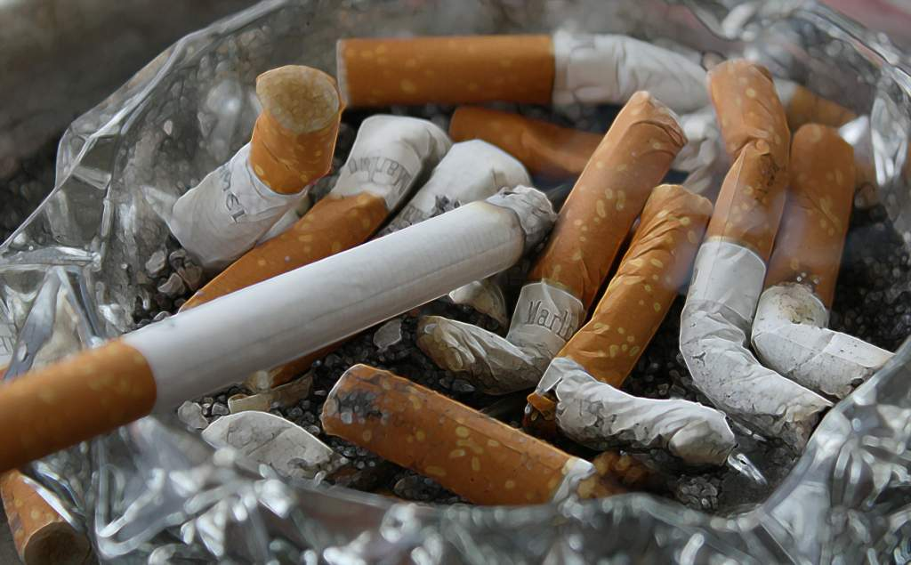 clean home of cigarettes